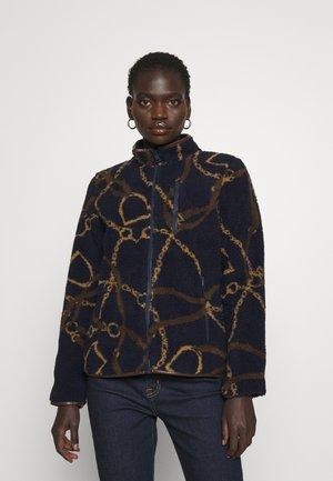 FRASER COAT - Fleece jacket - navy multi