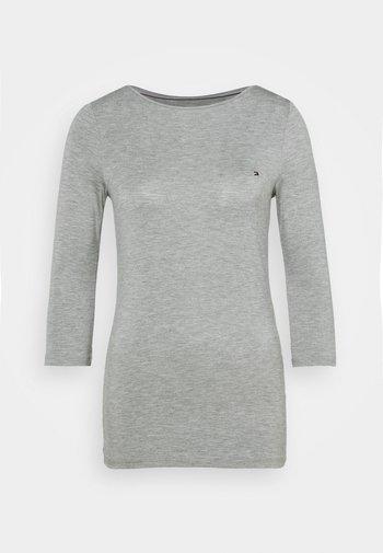 BOAT NECK TEE 3/4 - Pitkähihainen paita - grey