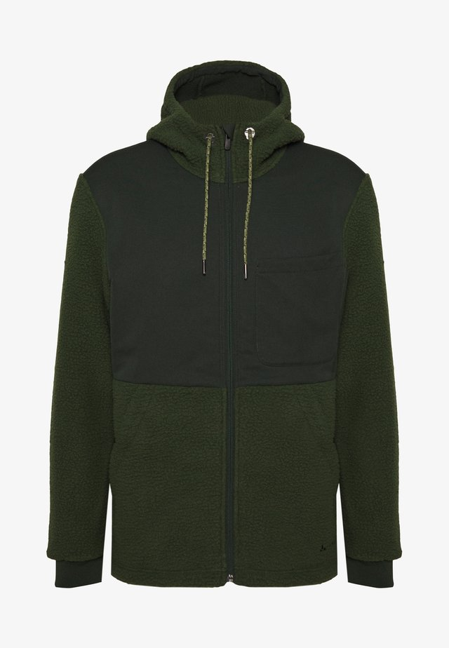 MENS MANUKAU JACKET - Giacca in pile - spinach