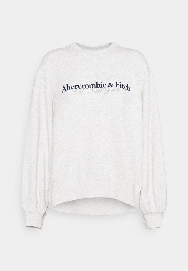UPPER TIER LOGO CREW - Sweatshirts - grey heather