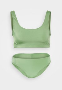 Monki - NILLA TOP MARNI BRIEF - Bikini - green - 5