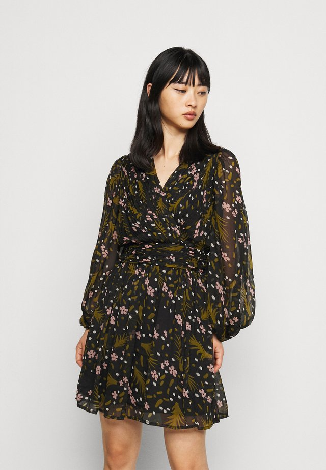 VMHADDIE SHORT GATHERING DRESS - Day dress - black/haddie