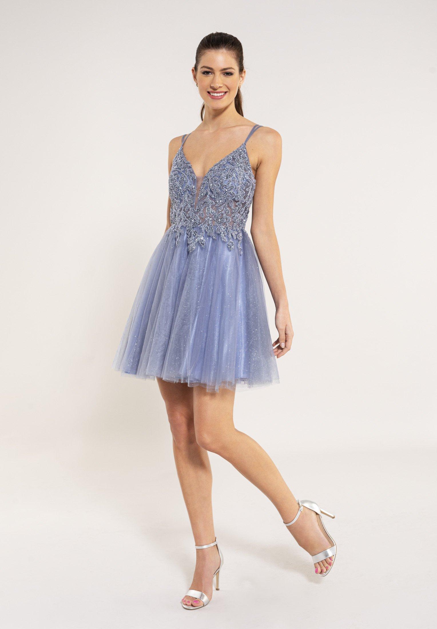 Swing Cocktailkleid Festliches Kleid Blue Blau Zalando De