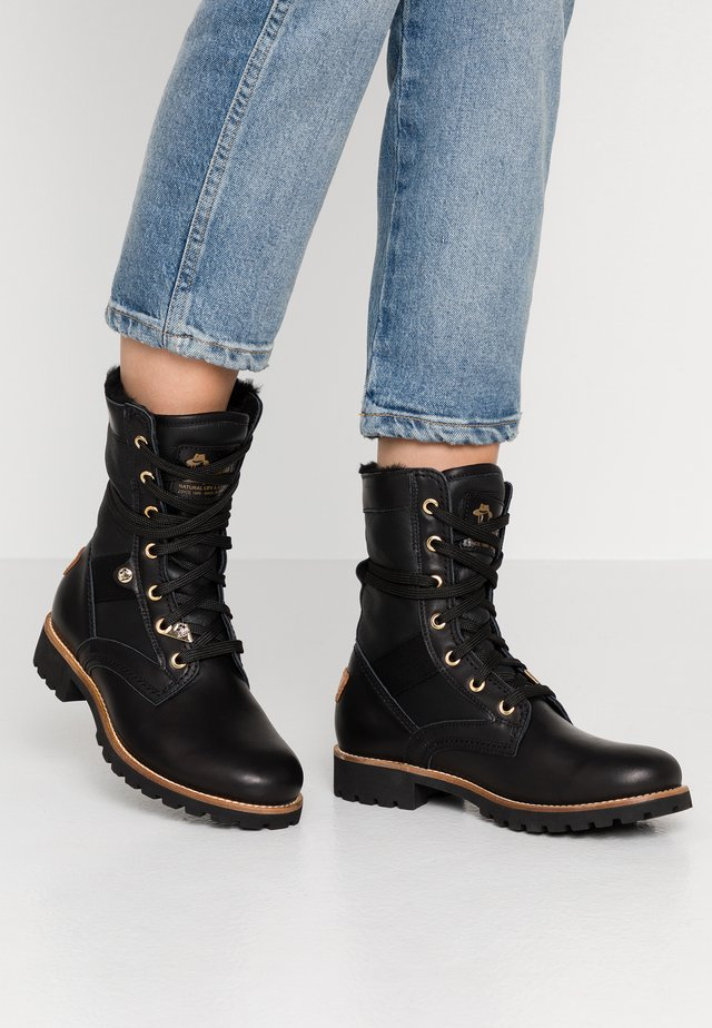 ROUTE BOOT IGLOO TRAVELLING - Lace-up ankle boots - black