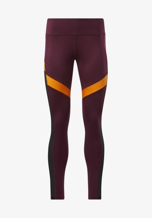 WORKOUT READY MESH TIGHTS - Medias - maroon