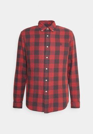 LONG SLEEVE SPORT - Shirt - red/black