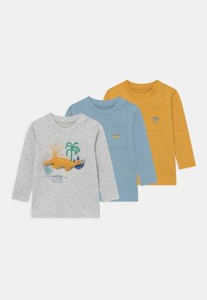 BABY 3 PACK - Top sdlouhým rukávem - grey/mustard yellow/blue