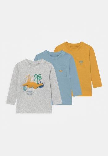 BABY 3 PACK - Maglietta a manica lunga - grey/mustard yellow/blue