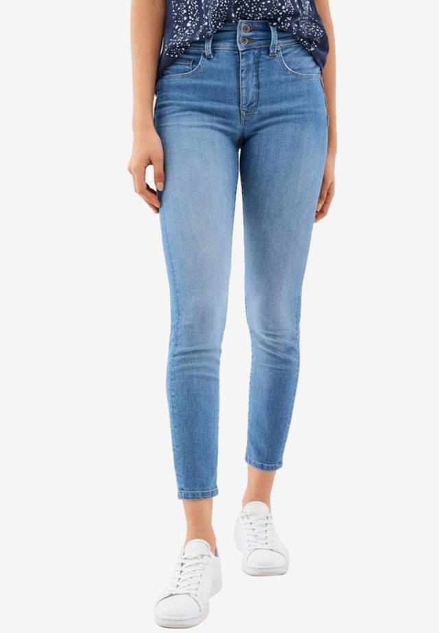 SECRET PUSH IN CAPRI - Jeans Skinny - blue