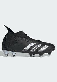 adidas Performance - PREDATOR - Moulded stud football boots - black - 5