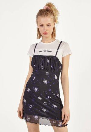 MIT PRINT - Denní šaty - black
