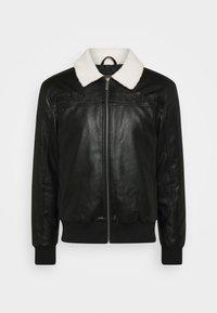 Karl Kani - RETRO JACKET - Faux leather jacket - black - 4