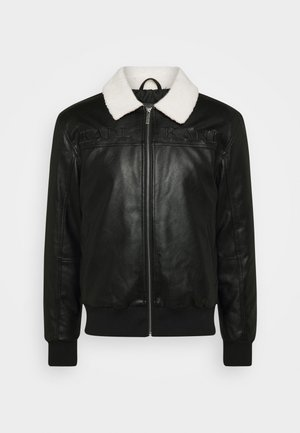 RETRO JACKET - Faux leather jacket - black