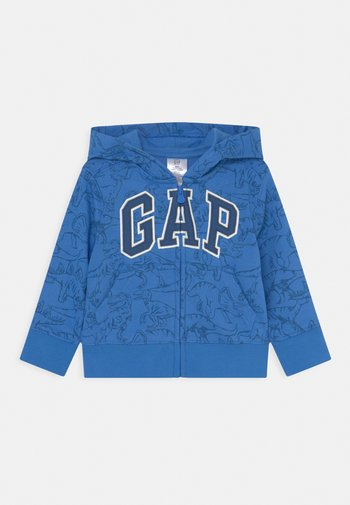 TODDLER BOY NOVELTY LOGO - Zip-up sweatshirt - tile blue