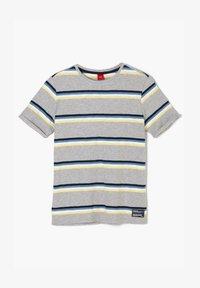 s.Oliver - Print T-shirt - grey melange stripes - 1