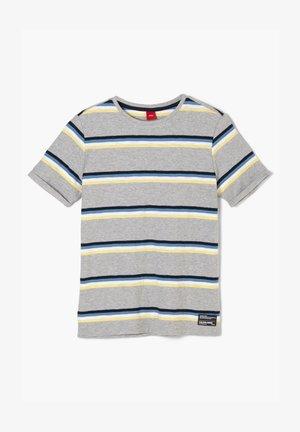 Print T-shirt - grey melange stripes