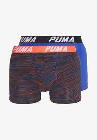 Puma - SPACEDYE STRIPE BOXER 2 PACK - Onderbroeken - blue/orange - 4