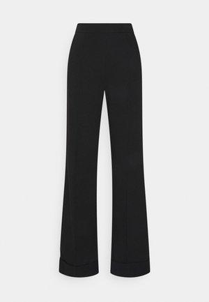 WIDE LEG PANTS - Tracksuit bottoms - black