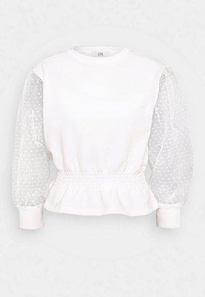 SHIRRED HEM - Sweatshirt - white