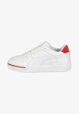 Sneakers - white high risk red