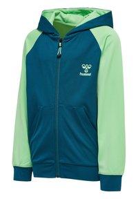 Hummel - ACTION - Zip-up hoodie - blue coral green ash - 2