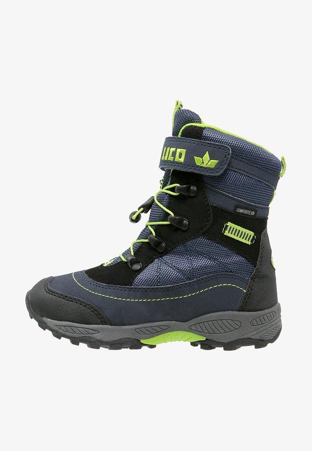 SUNDSVALL  - Winter boots - marine/schwarz/lemon