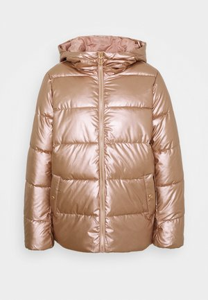 ONLSAVANNAH METALLIC PUFFER - Winter jacket - frosted almond