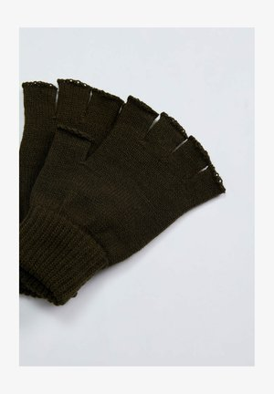 Fingerless gloves - khaki