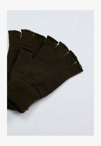 Fingerless gloves - khaki
