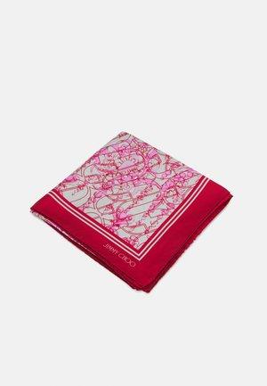 FOULARD SEASONAL JEWELLERY PRINT - Tørklæde / Halstørklæder - dark pink