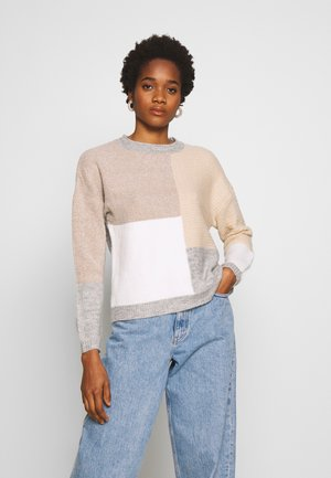 PATCHWORK JUMPER - Cardigan - cream