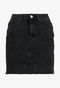 New Look - MOM SKIRT - Denim skirt - black - 5