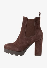 Anna Field Select - LEATHER HIGH HEELED ANKLE BOOTS - Korolliset nilkkurit - brown - 1