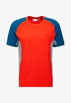 TH5017 - T-shirt med print - light red/mottled beige/dark blue
