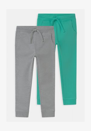 2 PACK - Trainingsbroek - grey/green