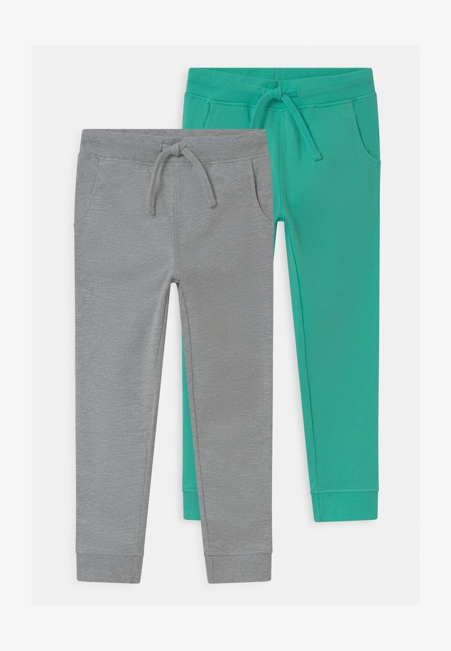 2 PACK - Tracksuit bottoms - grey/green