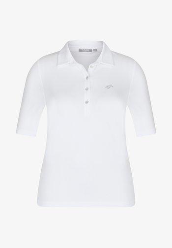 MIT UNIFARBENEM STOFF UND GLITZERSTEINEN - Polo shirt - weiãŸ