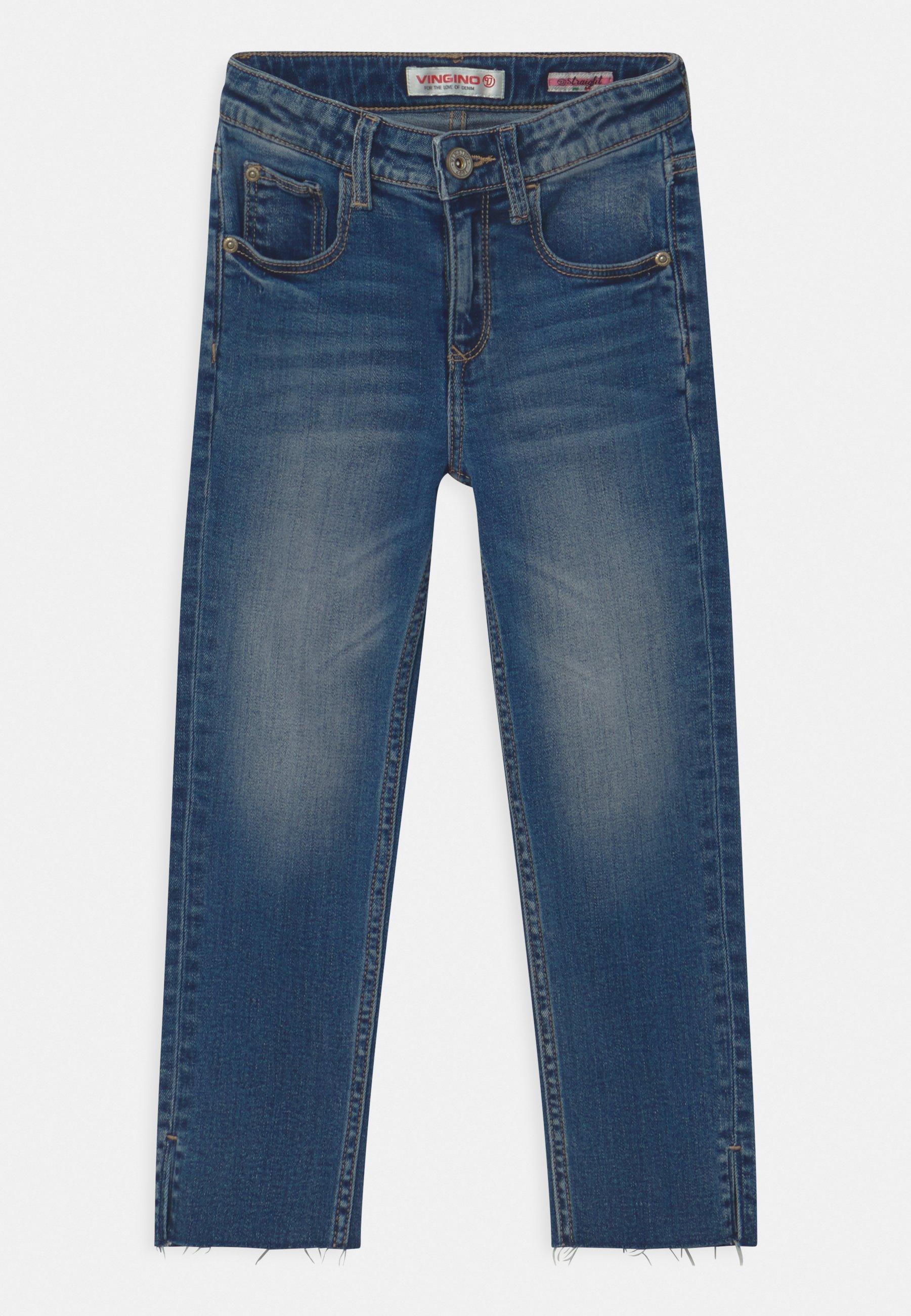 Kids CANDY CROPPED RAW HEM - Slim fit jeans