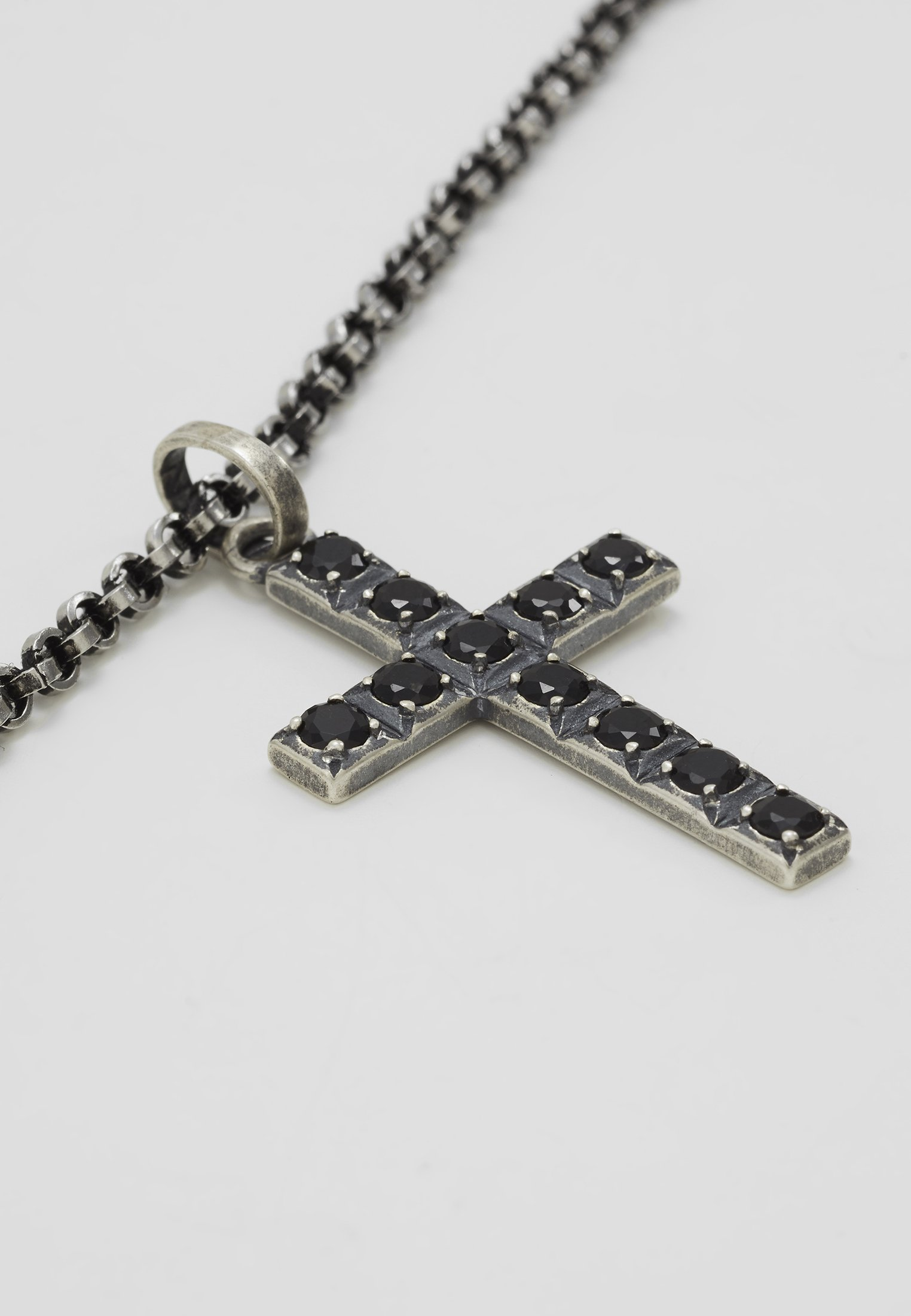 Nialaya PENDANT CROSS - Collier - silver-coloured