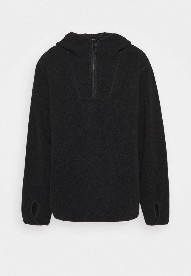 HOODIE - Felpa in pile - black dark