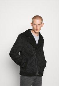 Nominal - AVIATOR  - Faux leather jacket - black - 0