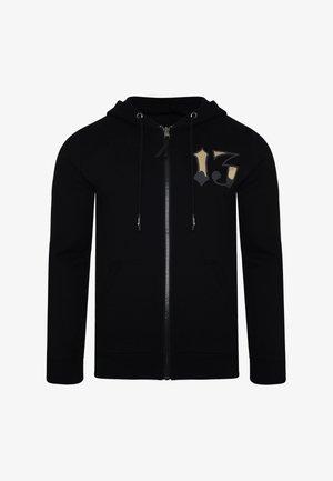 DRAGON-13 ZIP THRU FLEECE SWEAT HOODY - veste en sweat zippée - black