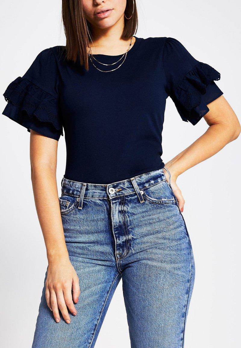 River Island - Basic T-shirt - blue