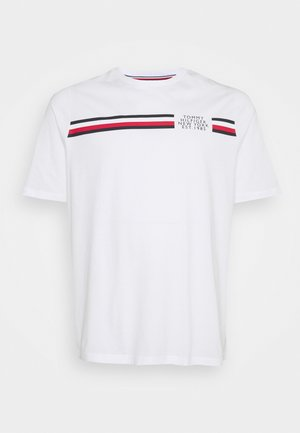 SPLIT TEE - Print T-shirt - white