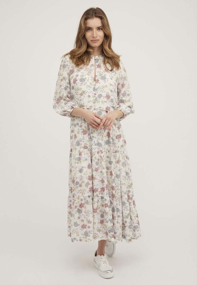 Oliver Bonas - REVIVAL FLORAL - Maxi dress - white