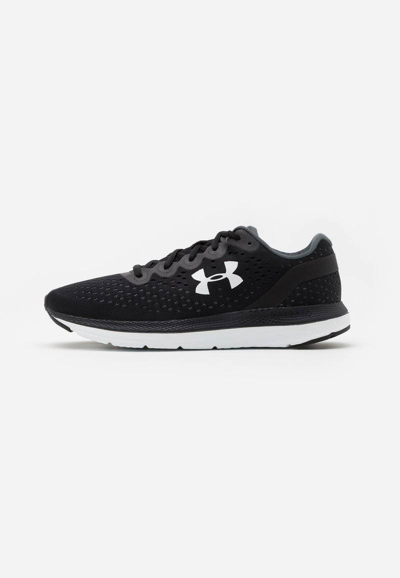 Under Armour - CHARGED IMPULSE - Zapatillas de running neutras - white/pink quartz/mod gray