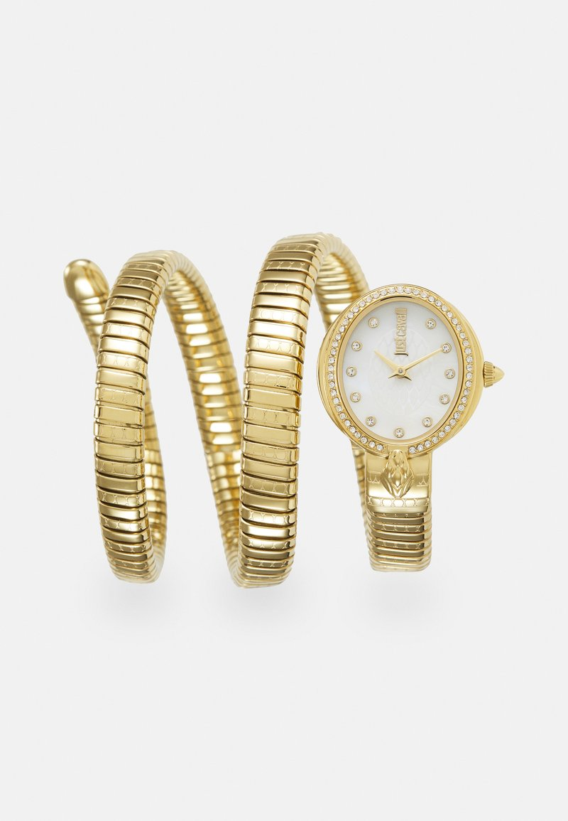 Just Cavalli - DROUBLE WRAP WATCH - Watch - gold-coloured/white