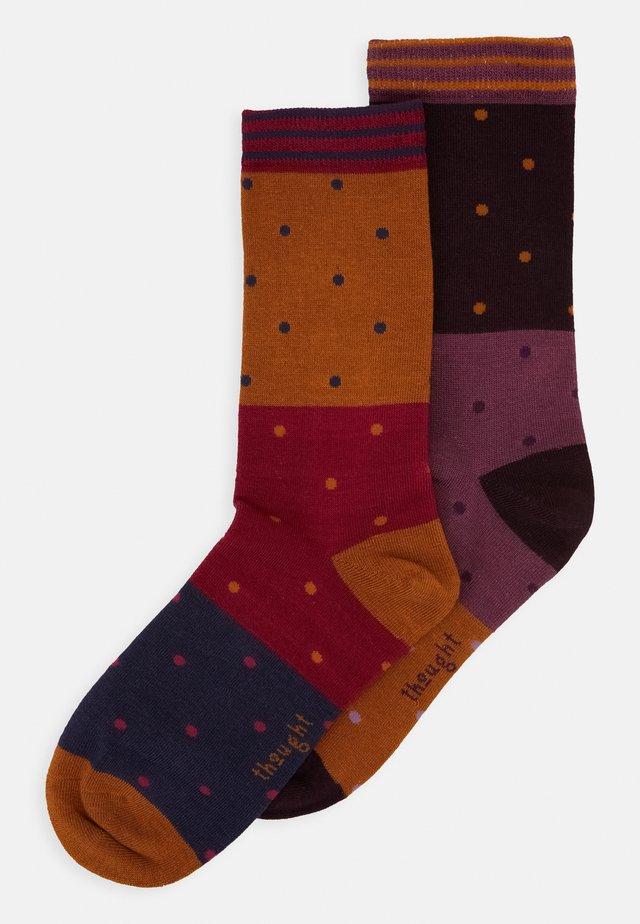 MERCY SOCKS 2 PACK - Chaussettes - amber/plum/purple