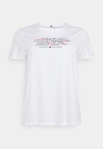 TEE REGULAR WOMEN UNITE - Print T-shirt - optic white