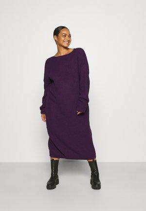 OPEN BACK INSERT DRESS - Jumper dress - mulberry